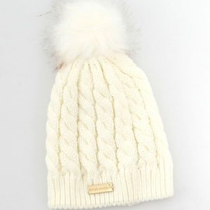 NWOT Simply Southern Youth Pom Beanie - White
